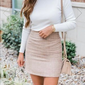 NWOT- Lonely Heart Brown Tweed Skirt